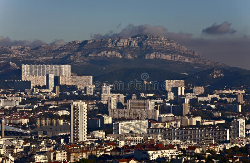 марсель Франции зданий самомоднейший стоковые фото