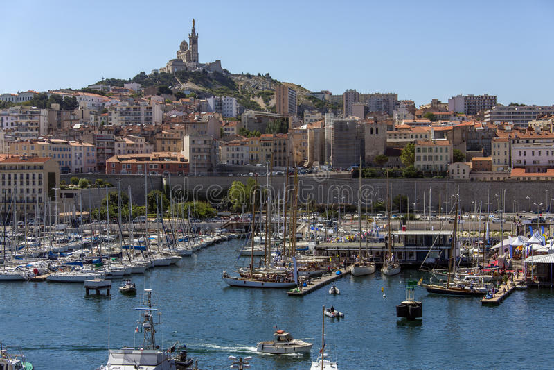 Марсел - юг франция стоковое изображение