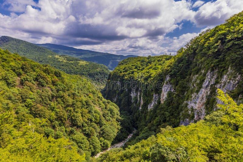 Мартвили Каньон пейзаж Самегрело-Земо Сванети Грузия Европа стоковая фотография rf