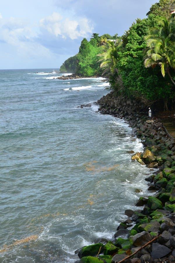 Мартиника, живописный город Marigot в Вест-Индиях стоковое фото