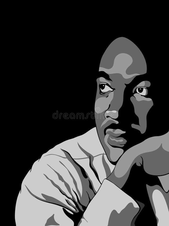 Мартин Лутюер Кинг иллюстрация вектора