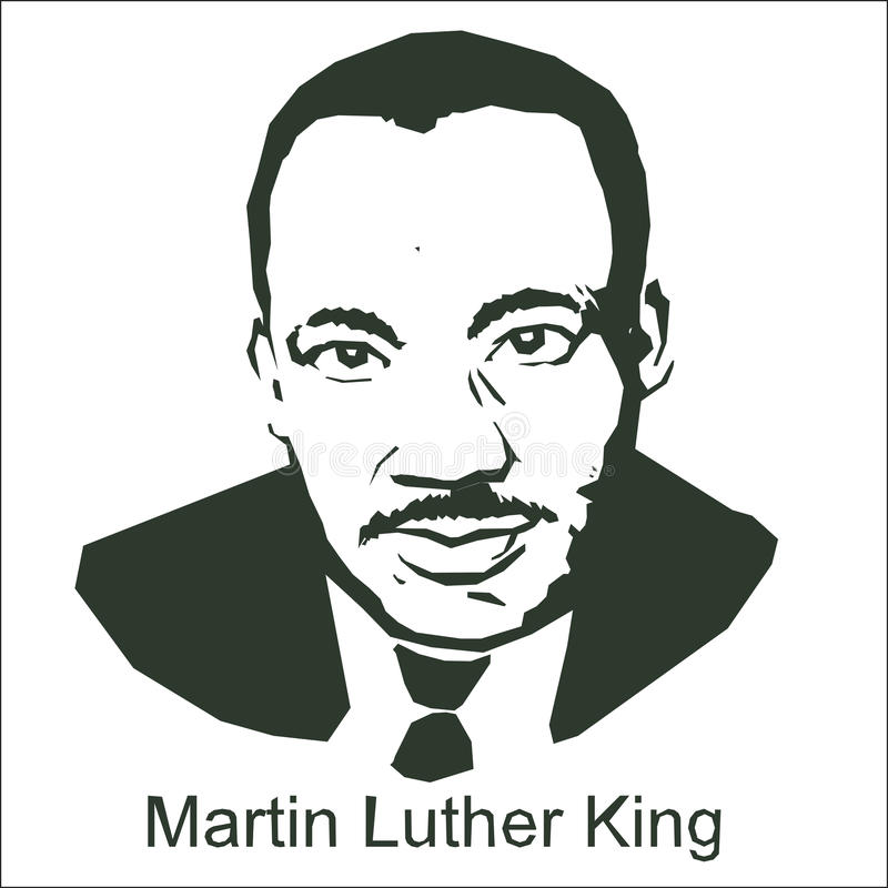 Мартин Лутюер Кинг иллюстрация штока