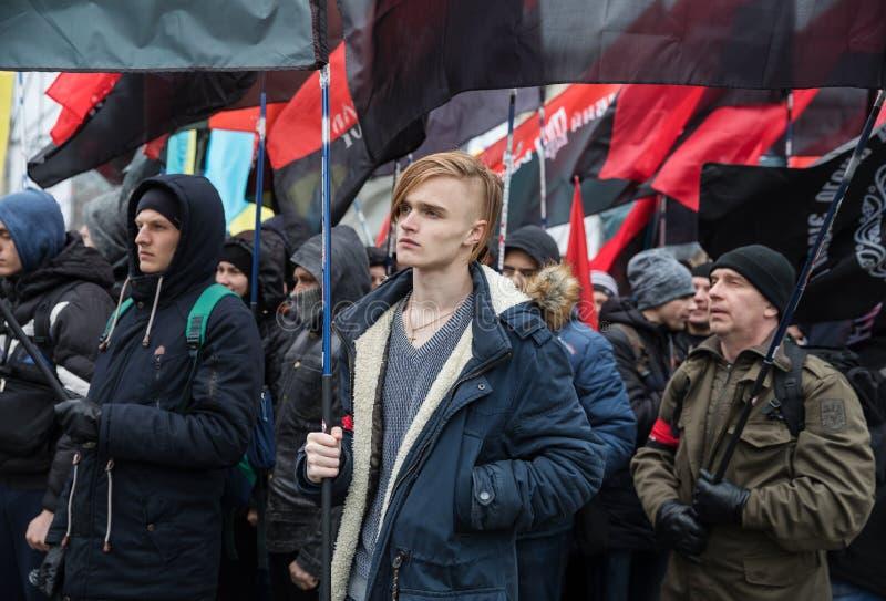 Март национального достоинства в Kyiv стоковое фото