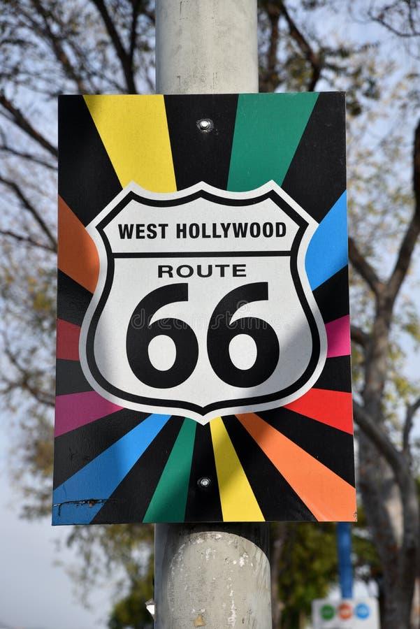 Маршрут 66 гея подписывает в западном Голливуд стоковая фотография