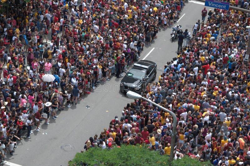Маршрут парада расчистки полицейской машины стоковые фотографии rf