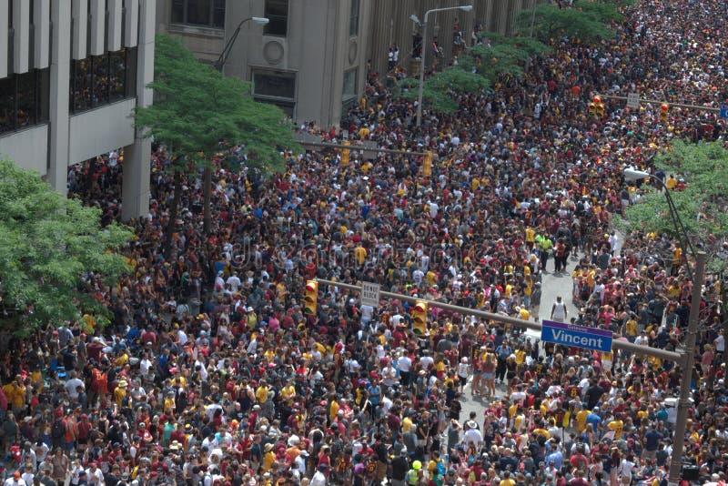 Маршрут парада людей пакуя стоковые изображения rf