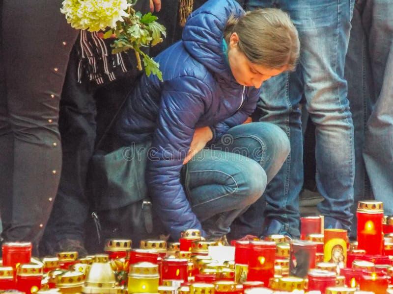 Марш безмолвия для colective жертв клуба стоковые изображения rf