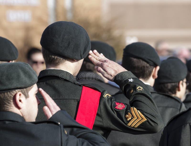 Марш кадетов стоковая фотография
