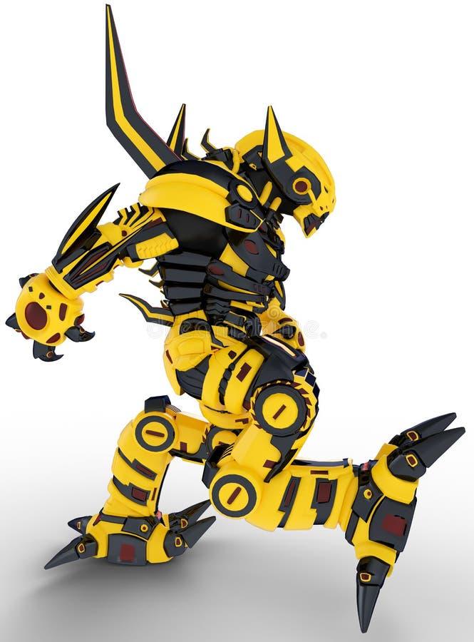 Марш пчелы робота иллюстрация штока