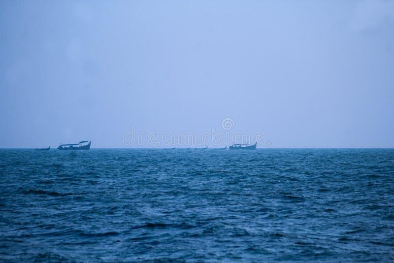 Марш рыбацких лодок стоковое изображение