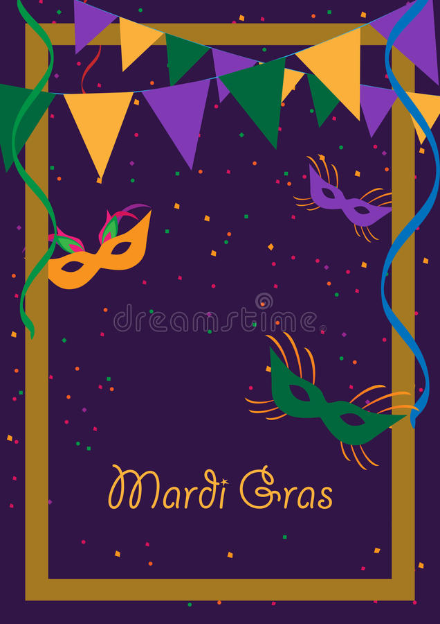Марди Гра бесплатная иллюстрация