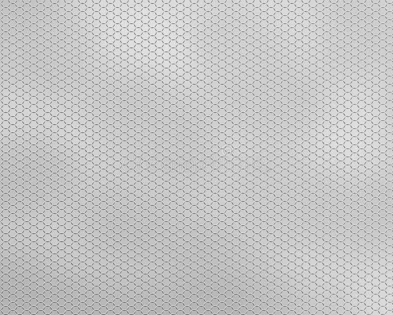 Марля металла предпосылки серая иллюстрация вектора