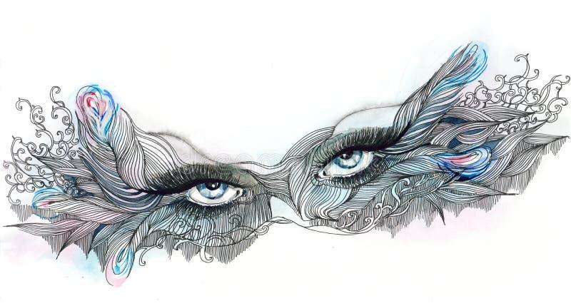 маска богато украшенный бесплатная иллюстрация