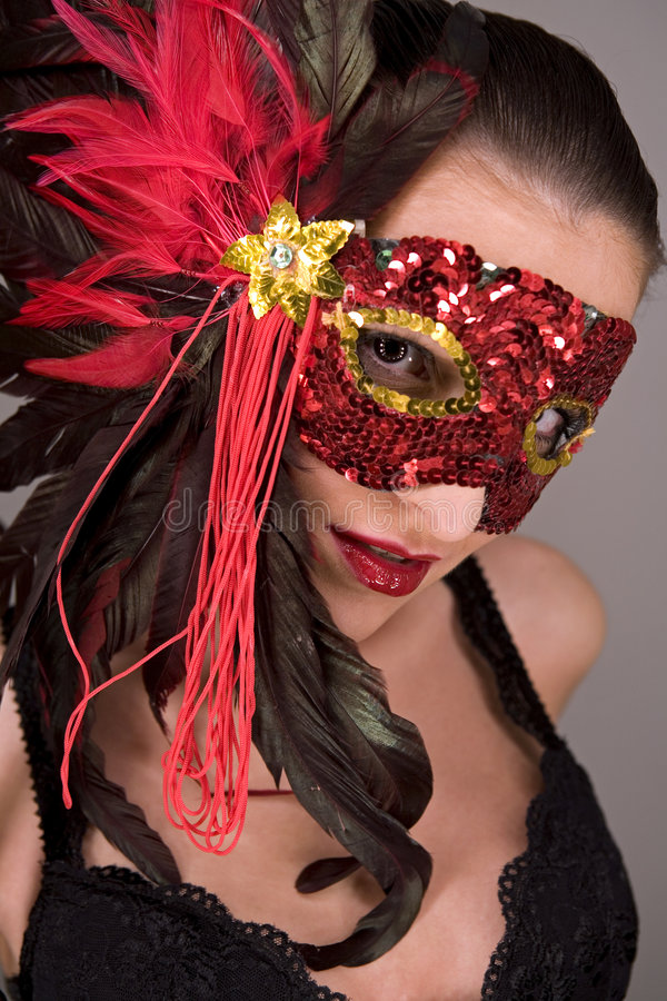 маска брюнет стоковые изображения