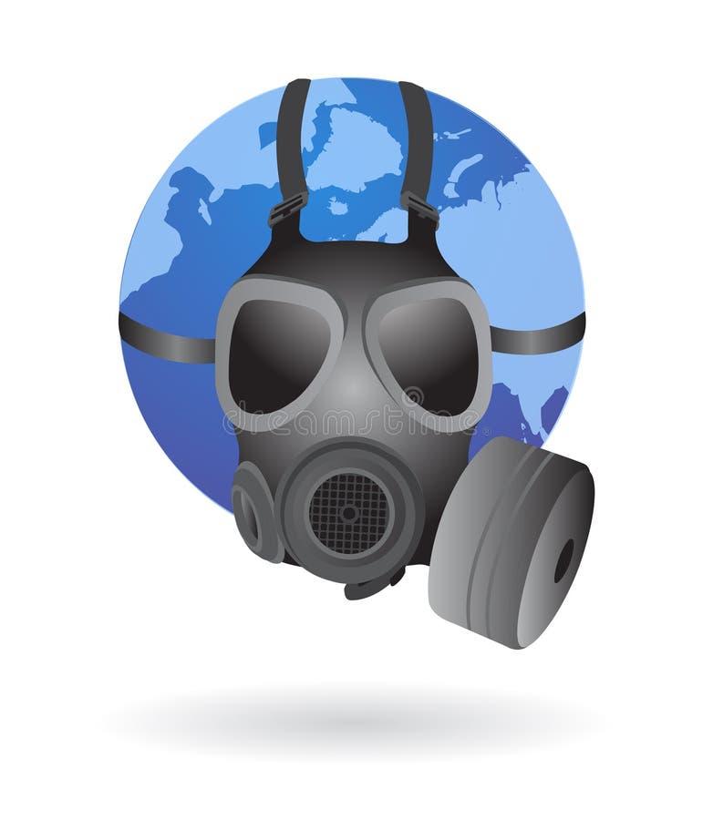 маска глобуса газа земли иллюстрация штока