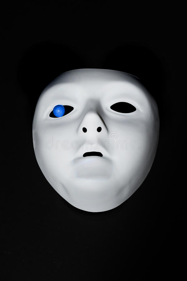 маска голубого глаза стоковые фото