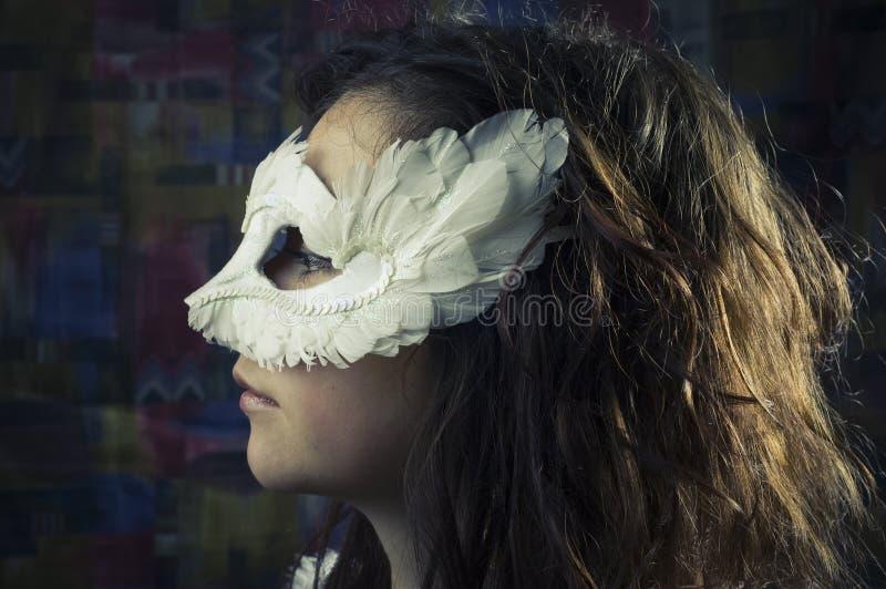 маска девушки стоковое фото rf