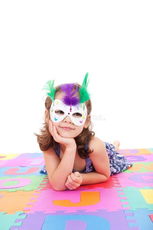 маска девушки costume стоковая фотография