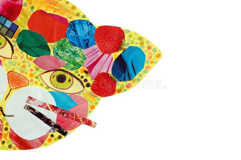 маска кота психоделическая стоковое фото rf