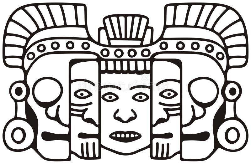 маска майяская иллюстрация штока