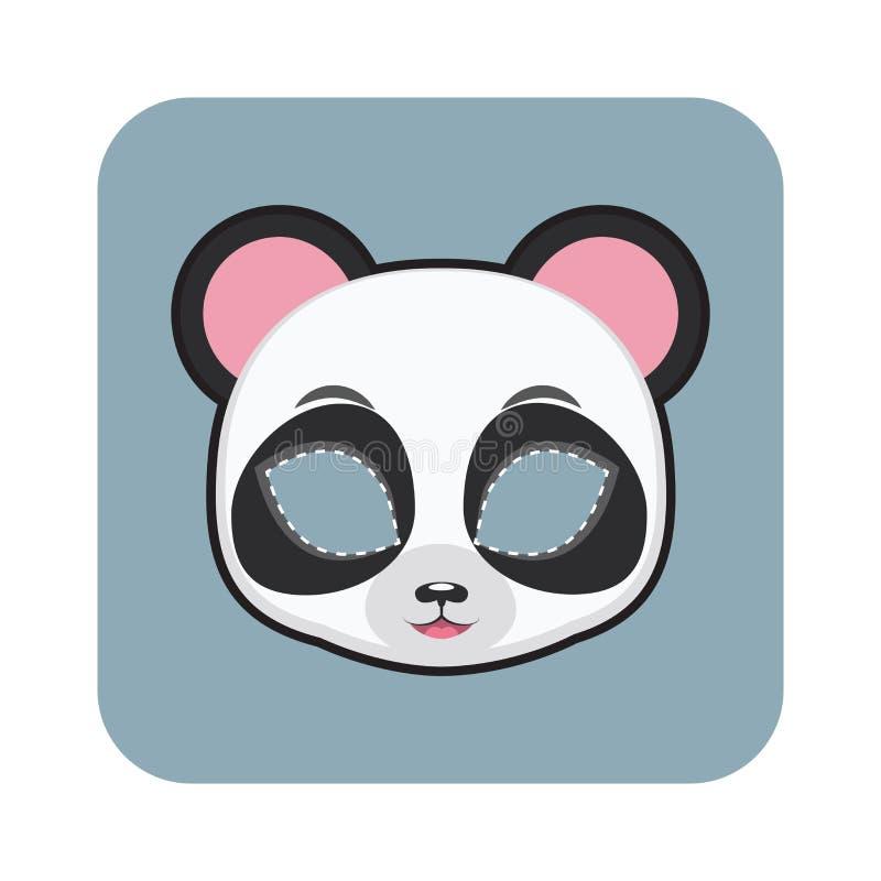 Маска панды стоковое изображение rf