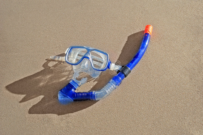 маска пляжа snorkeling стоковое изображение rf