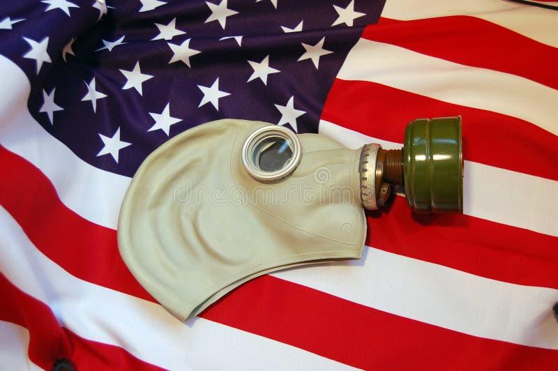 маска противогаза американского флага стоковая фотография rf