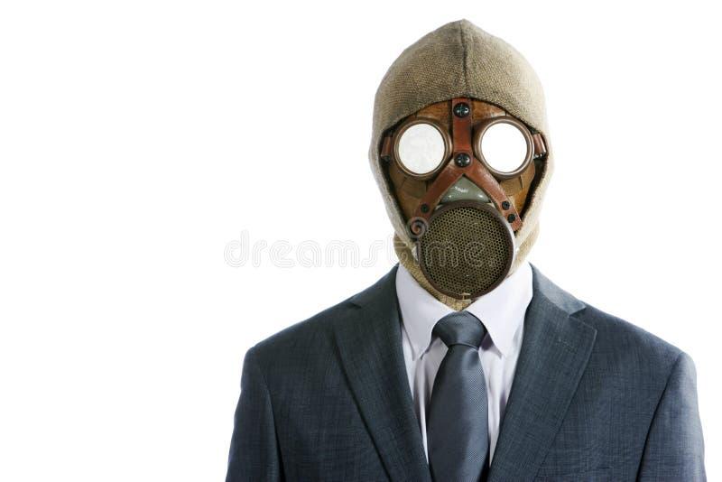 маска противогаза бизнесмена стоковые изображения rf