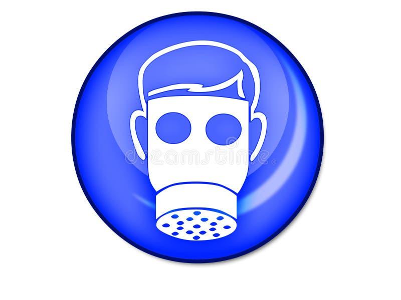 маска противогаза кнопки стоковое изображение rf