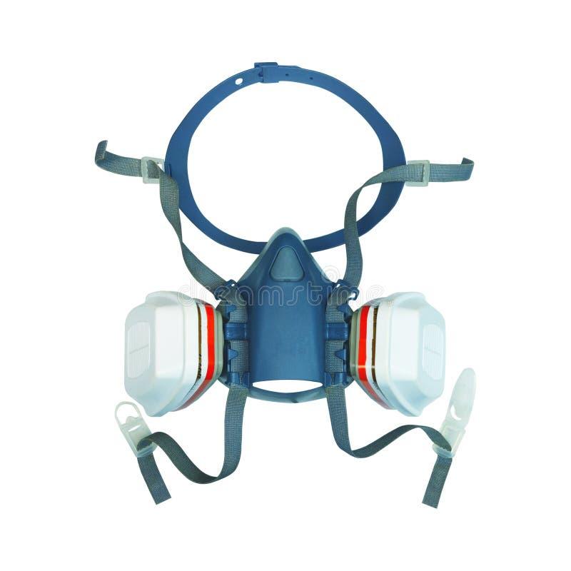 Маска противогаза пользы Консерваци-восстановления профессиональная или половинная маска изолированные на белизне с путем клиппир иллюстрация штока