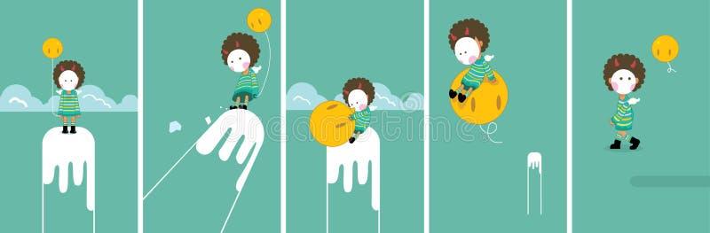 маска ребенка иллюстрация вектора