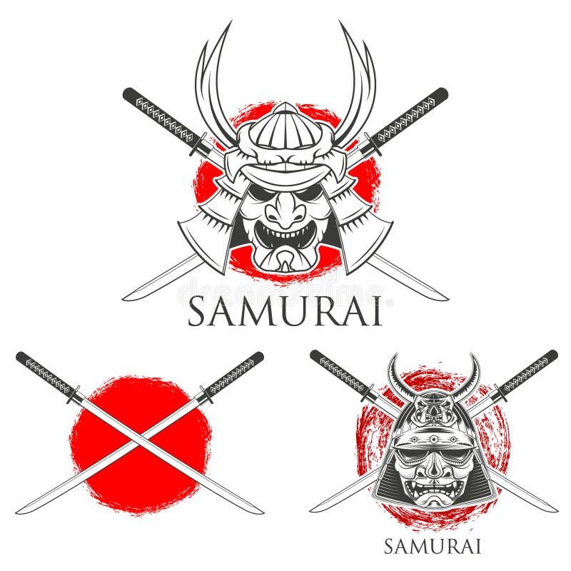 Маска самураев конструкция легкая редактирует элементы для того чтобы vector бесплатная иллюстрация