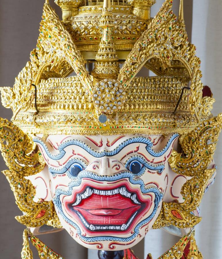 Маска Hanuman в стиле Khon тайском классическом рассказа Ramayana стоковые изображения