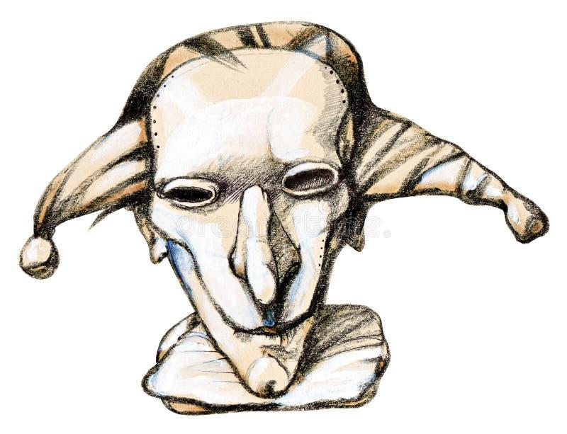 маска harlequin иллюстрация вектора