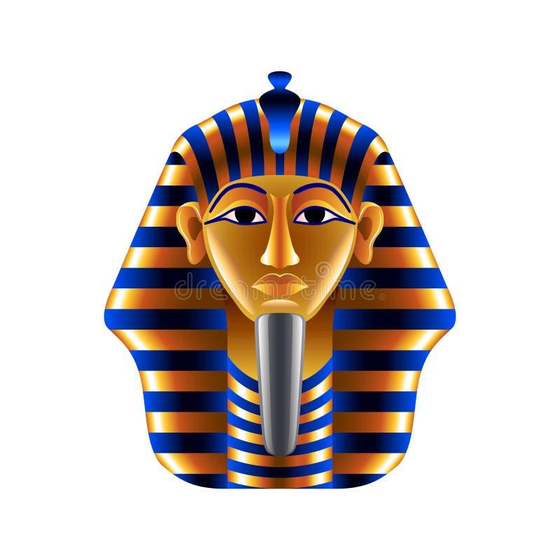 Маска Tutankhamuns на белом векторе иллюстрация вектора