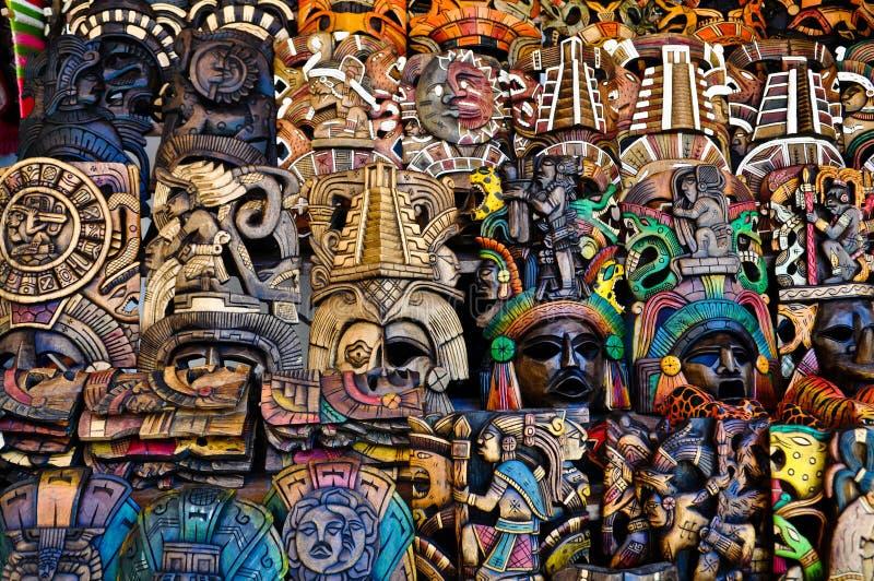 маскирует майяское сбывание деревянное стоковое фото