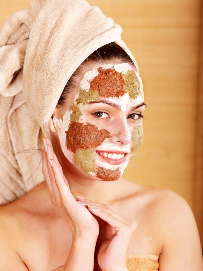 маски глины лицевые домодельные естественные стоковые изображения