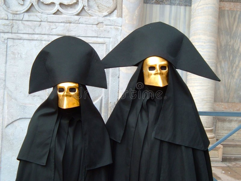 маски 2 типичный venice стоковое изображение