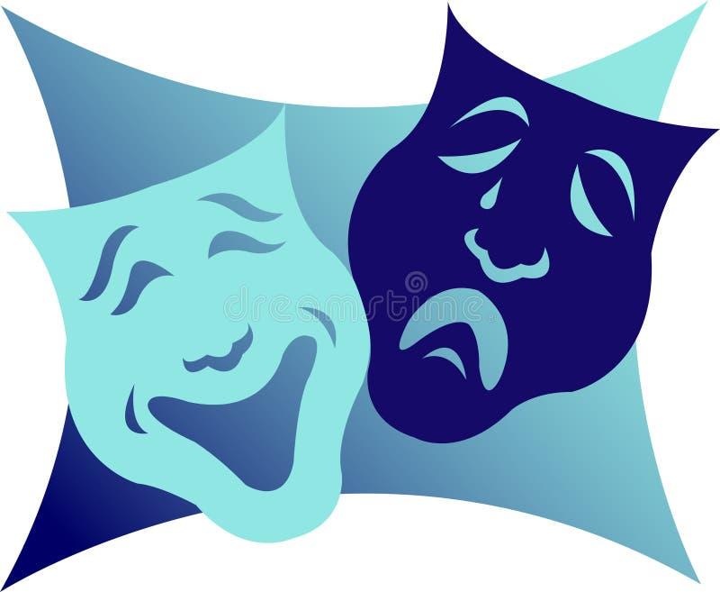 маски eps драмы иллюстрация вектора