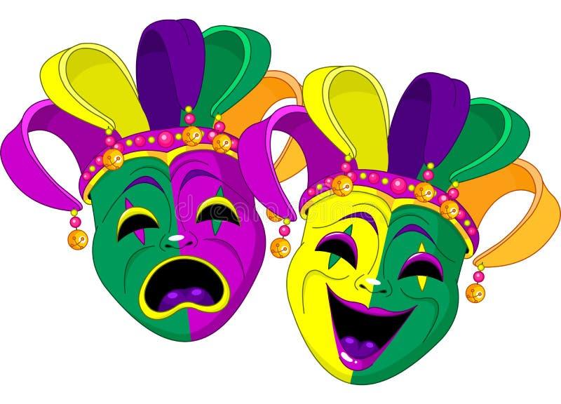 маски mardi gras иллюстрация вектора