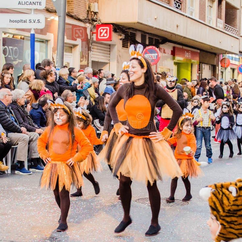 Масленица Испания Атмосфера, событие Torrevieja стоковая фотография rf