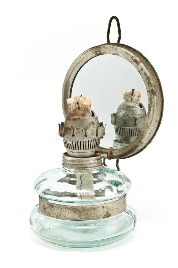 масло зеркала светильника старое стоковая фотография rf
