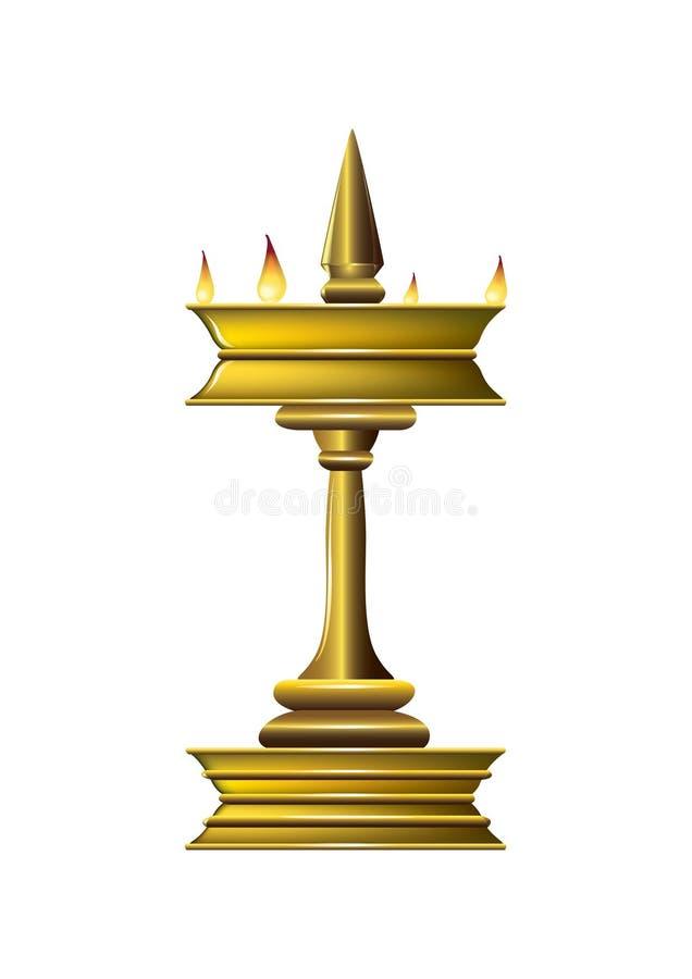 масло светильника иллюстрация вектора