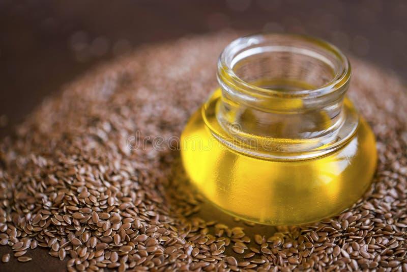 Масло семени льна стоковые фотографии rf