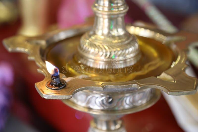 Масляная лампа Diwali индейца стоковое фото rf