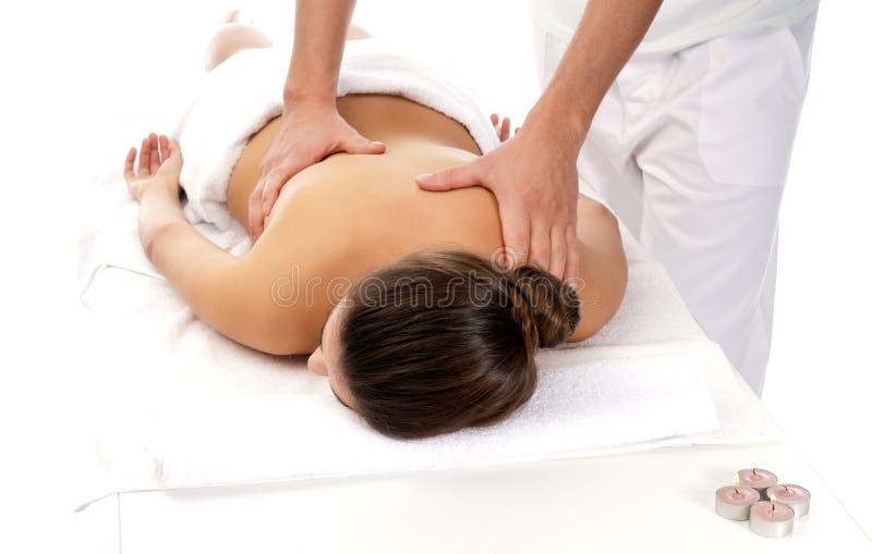 массаж получая женщину обработки непознаваемую стоковое фото rf