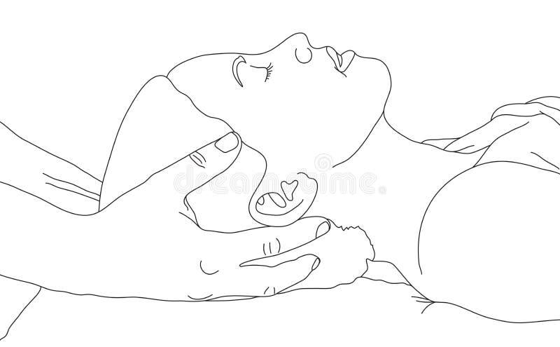 массаж тела иллюстрация вектора