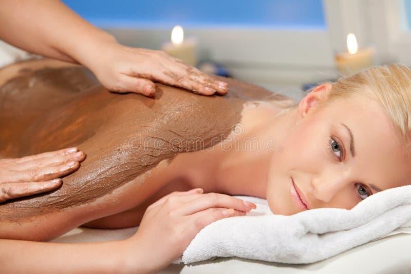 массаж шоколада стоковые фотографии rf