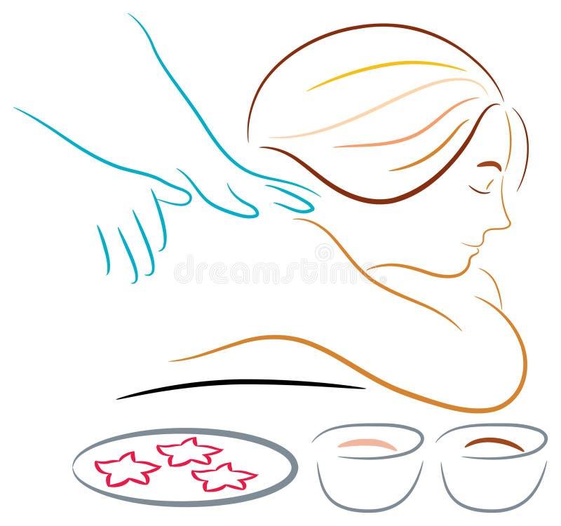 массаж иллюстрация штока