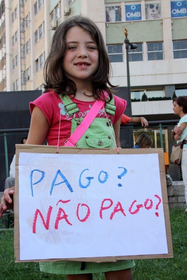 масса 15 гловальная lisbon занимает протесты в октябре стоковые изображения